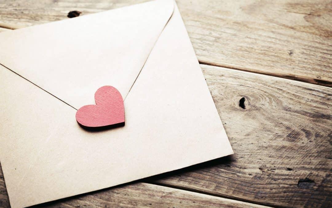Dio ti ha inviato una lettera d'amore!